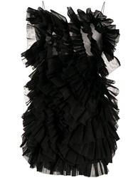 Laneus Ruffled Effect Dress Black