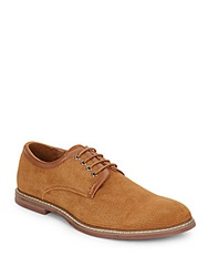 Joe's Jeans Stamped Suede Derby Shoes Tan