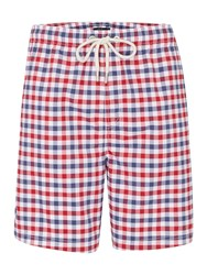 Howick Gingham Check Swim Short Multi Coloured