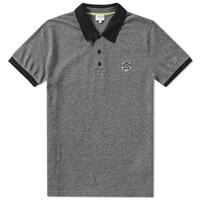 Kenzo Contrast Collar Tiger Polo Grey