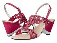 Onex Lacy Rose Leather High Heels Pink