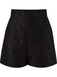 Martha Medeiros High Waisted Lace Shorts Black