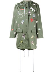 Mira Mikati Embroidered Hooded Parka Green