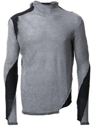 Masnada Patched Jumper Grey