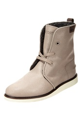 Lacoste Baylen Laceup Boots Light Grey Taupe