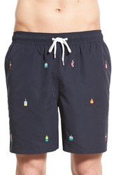 Men's Brooks Brothers 'Montauk' Embroidered Buoy Swim Trunks
