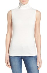 Women's Gibson Funnel Neck Sleeveless Top Ivory Cloud