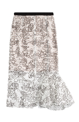 Julien David Printed Skirt With Embellishment