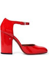 Laurence Dacade Mindy Patent Leather Mary Jane Pumps Red