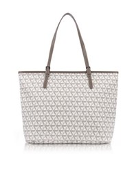 Lancaster Paris Ikon Coated Canvas And Leather Large Tote Bag Stone