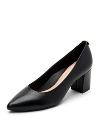 Taryn Rose Madline Leather Pointed Pumps Black