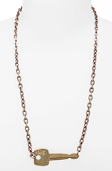 The Giving Keys 'Never Ending' 36 Inch Copper Chain Key Necklace Hope Antique Copper