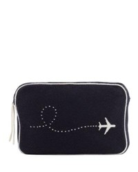 Sofia Cashmere Plane Intarsia Travel Set Navy