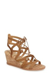 Dolce Vita Women's Lynnie Wedge Sandal Saddle Nubuck Leather