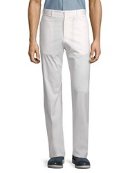 Paul And Shark Flat Front Woven Trousers White