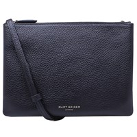 Kurt Geiger Pisces Leather Pouch Clutch Bag Black