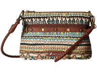 Sakroots Artist Circle Campus Mini Natural One World Cross Body Handbags Multi