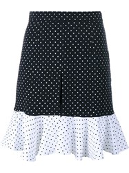 J.W.Anderson J.W. Anderson Polka Dot Frill Shorts Blue