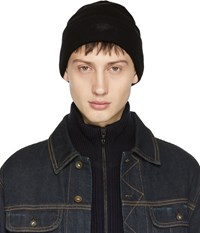 Rag And Bone Black Merino Addison Beanie