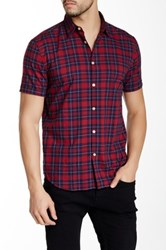 Star Usa By John Varvatos Short Sleeve Woven Slim Fit Shirt Red