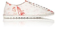 Marsell Women's Paint Splatter Print Leather Oxfords White Red White Red