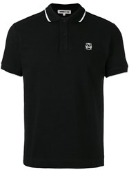 Mcq By Alexander Mcqueen Embroidered Logo Polo Shirt Black
