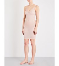 Wolford Lace Trim Body Shaping Dress Rosepowder
