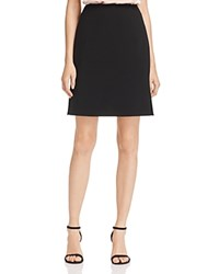 Dylan Gray Crepe Side Slit Skirt 100 Exclusive Black