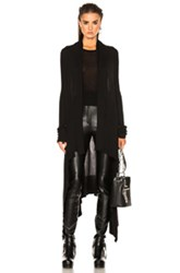 Rick Owens Long Wrap Sweater In Black