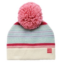 Joules Orkney Bobble Hat Pink Multi