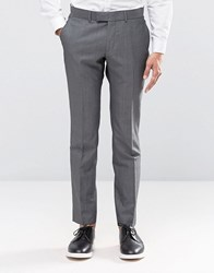 Ben Sherman Camden Super Skinny Charcoal Tonic Suit Trousers Grey