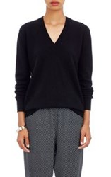 Tomas Maier Women's Cashmere V Neck Sweater Black
