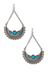 Bcbgmaxazria Trapeze Crescent Drop Earrings Metallic