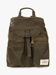 Barbour Whitby Waxed Cotton Backpack Olive