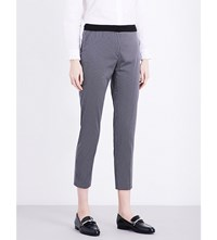 Claudie Pierlot Partition Tapered Crepe Trousers Marine