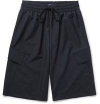 Cmmn Swdn Wool Cargo Shorts Navy