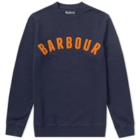 Barbour Prep Logo Crew Sweat Blue