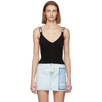 Off White Black Industrial Knit Tank Top