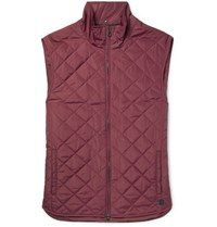 Dunhill Quilted Shell Gilet Purple
