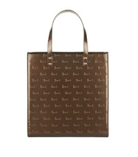 Harrods Small Debossed Boxy Tote Bag Unisex