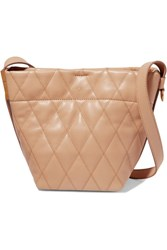 Givenchy Gv Mini Quilted Leather Bucket Bag Camel