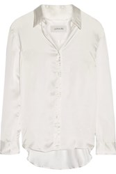 Christophe Lemaire Satin Shirt White