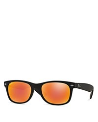Ray Ban Square New Wayfarer Sunglasses Black Red