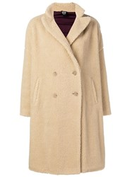 Colmar Faux Shearling Double Breasted Coat Neutrals