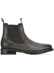 Santoni Pull On Ankle Boots Grey