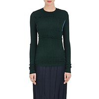Nina Ricci Women's Smocked Front Sweater Blue Green No Color Blue Green No Color