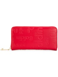 Baldinini Zip Around Wallet Red