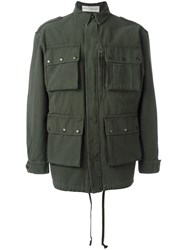 Faith Connexion Back Print Jacket Green