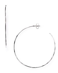 Robert Lee Morris Soho Large Hoop Earrings Silver