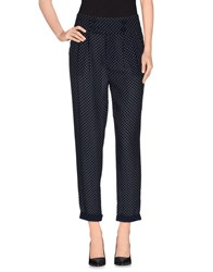 Fracomina Trousers Casual Trousers Women Dark Blue